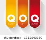 qoq   quarter on quarter...   Shutterstock .eps vector #1312643390