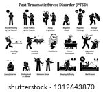 post traumatic stress disorder... | Shutterstock .eps vector #1312643870