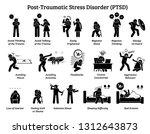 post traumatic stress disorder... | Shutterstock . vector #1312643873