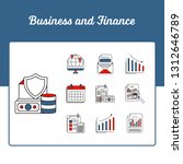 business and finance icons set  ...   Shutterstock .eps vector #1312646789