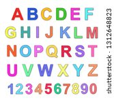 multicolored alphabet and... | Shutterstock . vector #1312648823