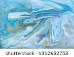 blue and gold marbling pattern. ... | Shutterstock . vector #1312652753