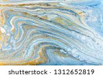 white  blue and gold marbling... | Shutterstock . vector #1312652819