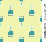 green wine glass icon isolated... | Shutterstock .eps vector #1312654229