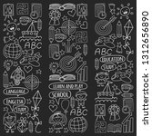 vector set of learning english... | Shutterstock .eps vector #1312656890