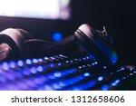 audio headphones on the... | Shutterstock . vector #1312658606