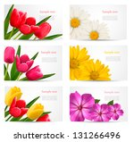 set of banners with different... | Shutterstock .eps vector #131266496