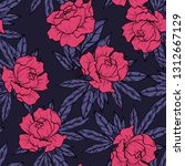 floral seamless pattern with... | Shutterstock .eps vector #1312667129