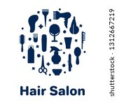 icons for barber shop. tools... | Shutterstock .eps vector #1312667219