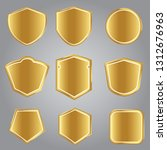 retro golden  shields vector... | Shutterstock .eps vector #1312676963