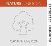 oak tree vector icon. simple... | Shutterstock .eps vector #1312681166