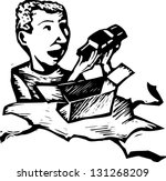 black and white vector... | Shutterstock .eps vector #131268209