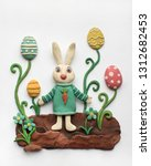 cute easter illustration with... | Shutterstock . vector #1312682453
