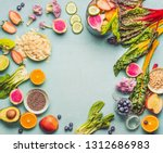 healthy smoothie ingredients on ... | Shutterstock . vector #1312686983