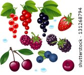 set berry on a white... | Shutterstock . vector #131268794