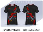 t shirt sport design template ... | Shutterstock .eps vector #1312689650