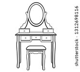 dressing table with mirror ... | Shutterstock .eps vector #1312698116