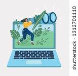 vector cartoon illustration of... | Shutterstock .eps vector #1312701110