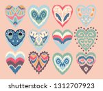 valentine's day. seamless... | Shutterstock .eps vector #1312707923