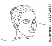 continuous line drawing of... | Shutterstock .eps vector #1312718819