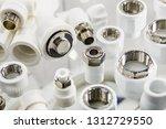 ceramic metal pipes  couplings... | Shutterstock . vector #1312729550