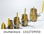 metal pipes  couplings and... | Shutterstock . vector #1312729553