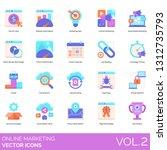 online marketing icons... | Shutterstock .eps vector #1312735793