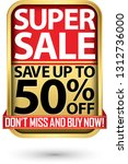 super sale save up to 50  off... | Shutterstock .eps vector #1312736000