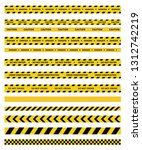 caution and danger tapes.... | Shutterstock .eps vector #1312742219