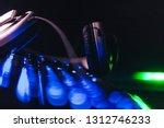 audio headphones on the... | Shutterstock . vector #1312746233