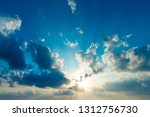 white clouds in blue sky | Shutterstock . vector #1312756730