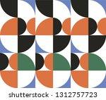seamless geometric pattern of... | Shutterstock .eps vector #1312757723