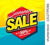 summer sale banner layout... | Shutterstock .eps vector #1312759286