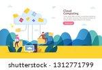 cloud computing concept.... | Shutterstock .eps vector #1312771799