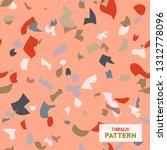 terrazzo flooring vector...   Shutterstock .eps vector #1312778096
