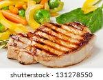 grilled steak with vegetables... | Shutterstock . vector #131278550