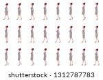 business women walk cycle...   Shutterstock .eps vector #1312787783