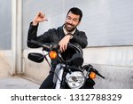 young man on a motorbike