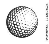 vector golf ball close up   Shutterstock .eps vector #1312805636