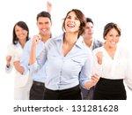 successful business team... | Shutterstock . vector #131281628