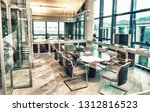 modern meeting room interior in ... | Shutterstock . vector #1312816523