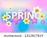 bright spring background in... | Shutterstock .eps vector #1312817819