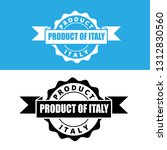 product of italy stamp. label... | Shutterstock .eps vector #1312830560