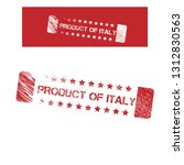 product of italy stamp. label... | Shutterstock .eps vector #1312830563