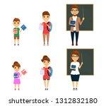 set  the teaching profession.... | Shutterstock .eps vector #1312832180