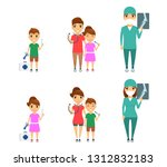 set  profession surgeon. little ... | Shutterstock .eps vector #1312832183