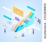 expert team for data analysis   ... | Shutterstock .eps vector #1312838843