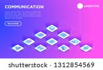 communication web page template ... | Shutterstock .eps vector #1312854569
