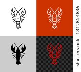 Lobster Icon. Simple Line Style ...