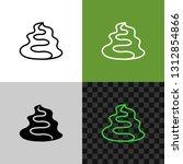 wasabi paste sauce line icon....   Shutterstock .eps vector #1312854866